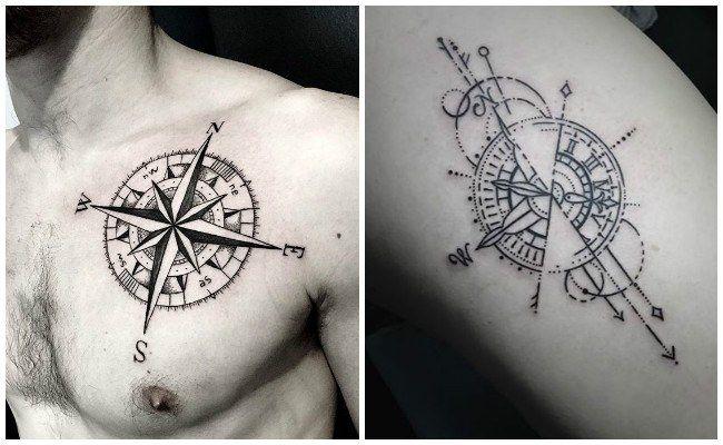 Tatuajes De Brujulas Y Su Significado Para Que No Pierdas El Norte
