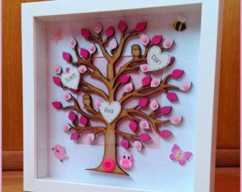 FAMILY TREE FRAME Extra large Handmade by MadeOverTheRainbow1