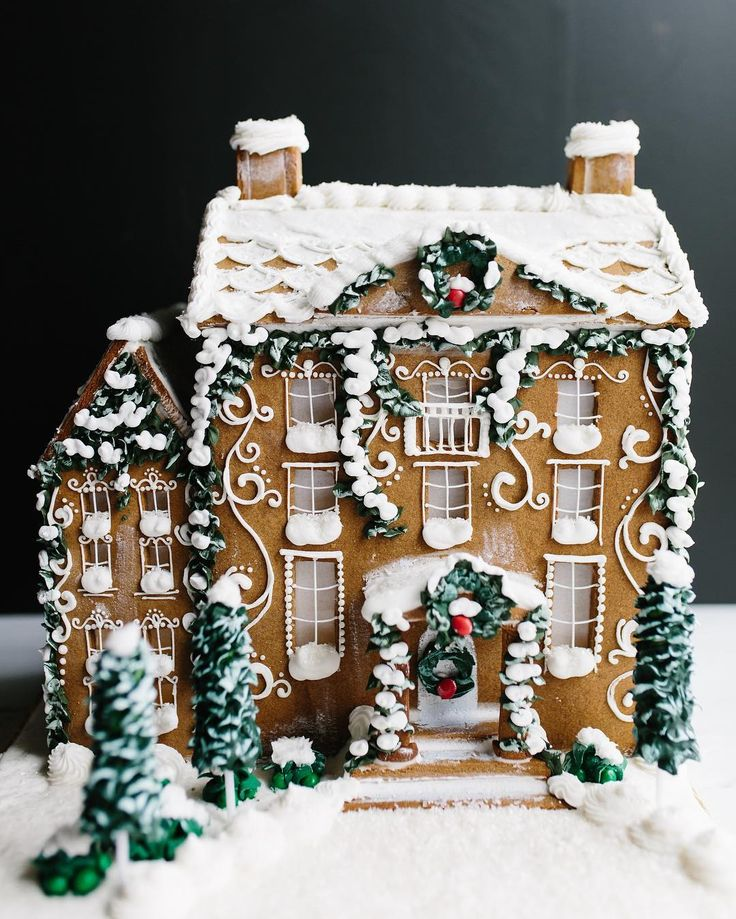 "412 Likes, 20 Comments - Shelby Bower (@shelbyelizabethcakes) on Instagram: ""Gingerbread houses just make you feel so warm and fuzzy inside. A beautiful shot of our large…"""