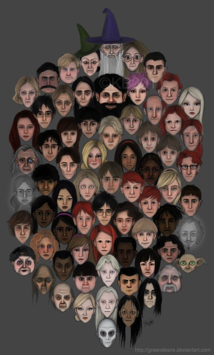 Pin for Later: Harry Potter Characters Are Reimagined in AMAZING Fan Art Harry Potter Faces