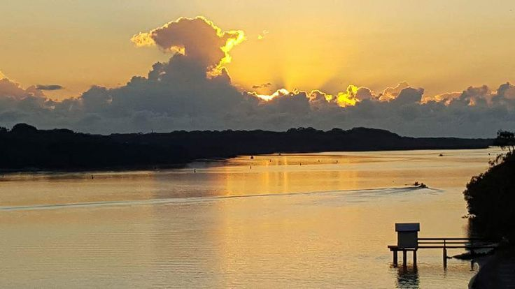Good Morning Maroochydore. - Picture taken from the Maroochy River Bridge - Right opposite our park