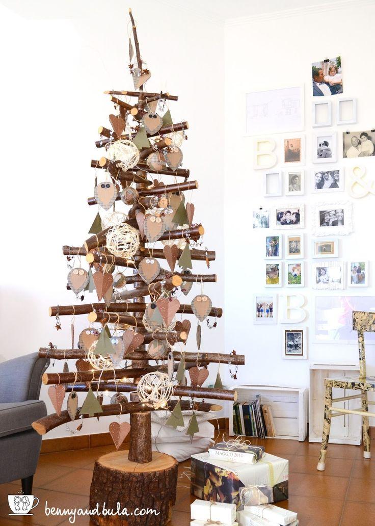 Albero di natale in legno faidate diy scandinavian for Alberi di natale fai da te in legno