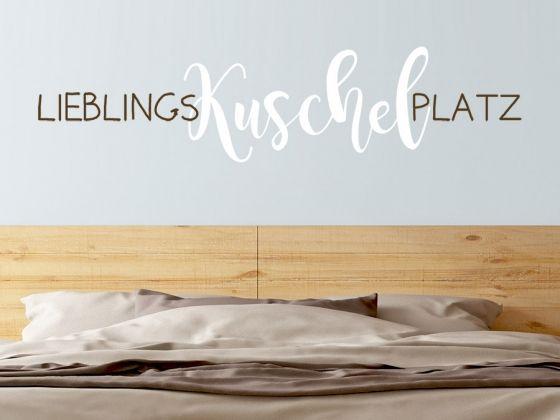 """Wandtattoo """"Lieblingskuschelplatz"""" für das Schlafzimmer"""
