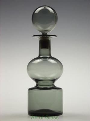 Rare Nuutajarvi Notsjo Kaj Franck 'Kremlin Bells' vintage glass decanter kellot