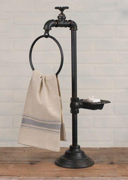 Spigot+Soap+and+Towel+Holder