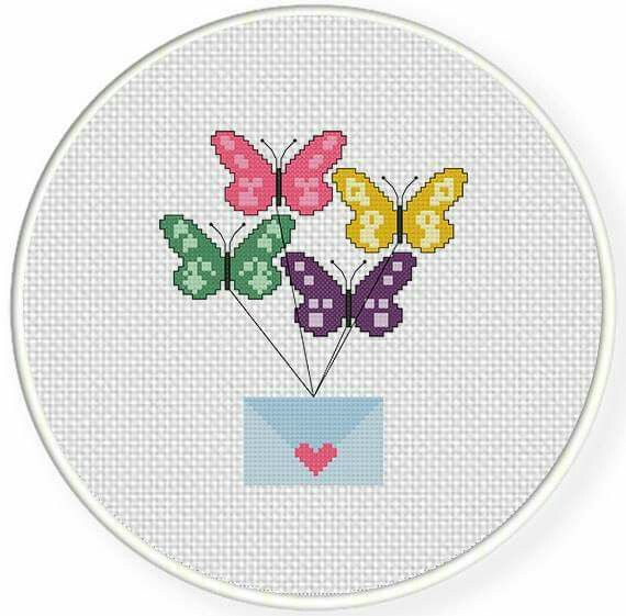 Valentine cross stitch.
