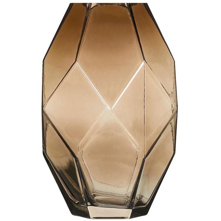 Glazen vaas Faches in trendy vorm. kleur: bruin. Hoogte: 23 cm. #kwantum_woonahaves_vaas5 #kwantum #kwantum_nederland #woonahaves #daarwoonjebetervan