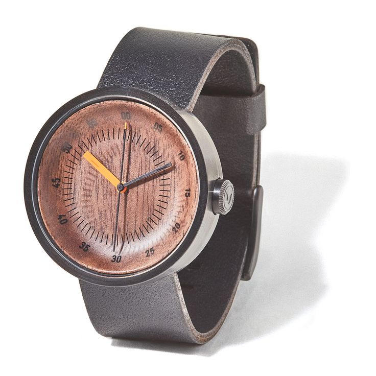 Wood and leather watch collection with stainless steel