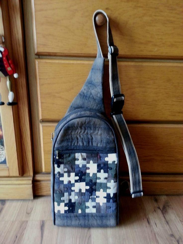 Monostrap Backpack, One strap backpack. DIY step-by-step tutorial. Рюкзак с одной лямкой. Инструкция по шитью