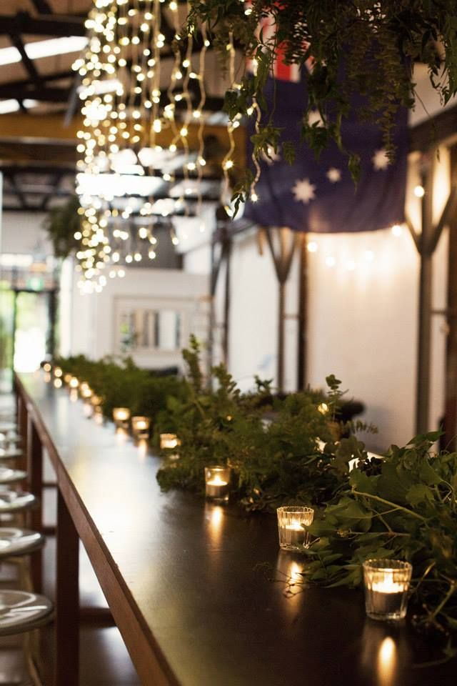 Table foliage garland | flowers by Badlands & Co.