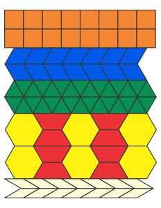 Printable Pattern Blocks (Shape Templates) to print on a variety of media.