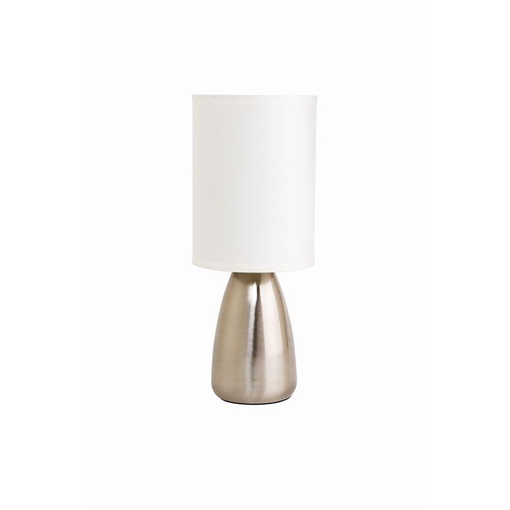 Light Touch Lamp Cafe 34cm White Shade Soho 9042-3