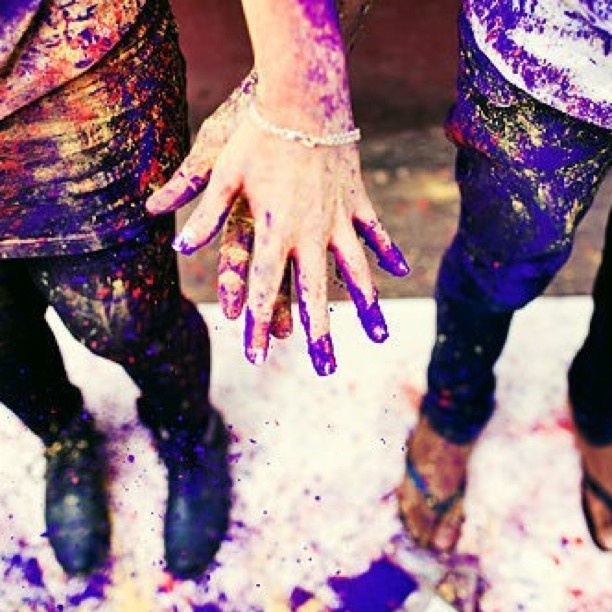 I want to have a paint fight with my boyfriend :3 #paint #couple #cute -