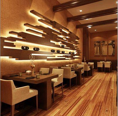 Cool backlit wall lighting
