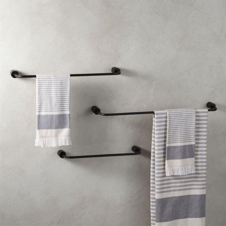 Raue Gegossene Schwarze Handtuchhalter Handtuchhalter Handtuchhaken Handtuchhalter Ideen
