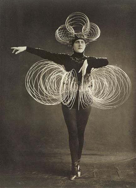 Karl Grill active at the Bauhaus 1920-29, Spiral costume, from the 'Triadic ballet', c.1926-27 gelatin silver photograph