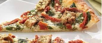 HERBED CHICKEN MEDITERRANEAN PIZZA  Papa Murphy Copycat Recipe   Thin Crust  1 1/2 cups all purpose flour  1 teaspoon salt  3/4 teaspoo...