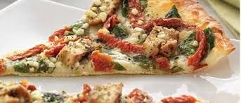 HERBED CHICKEN MEDITERRANEAN PIZZA  Papa Murphy Copycat Recipe   Thin Crust   1 1/2 cups all purpose flour  1 teaspoon salt  3/4 teaspoo...