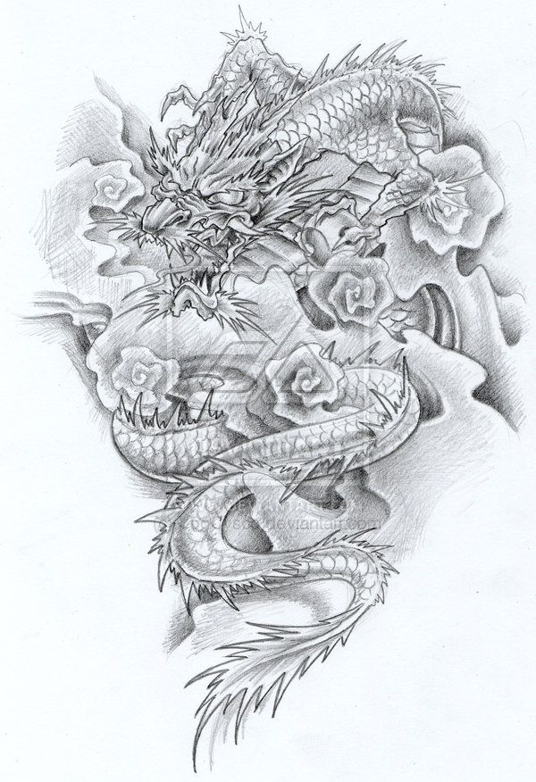16 best tattoos images on pinterest - Dessin dragon japonais ...