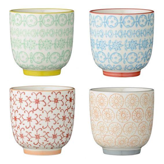 Ensemble de 4 tasses à café de la collection Carla #Bloomingville. On aime les…