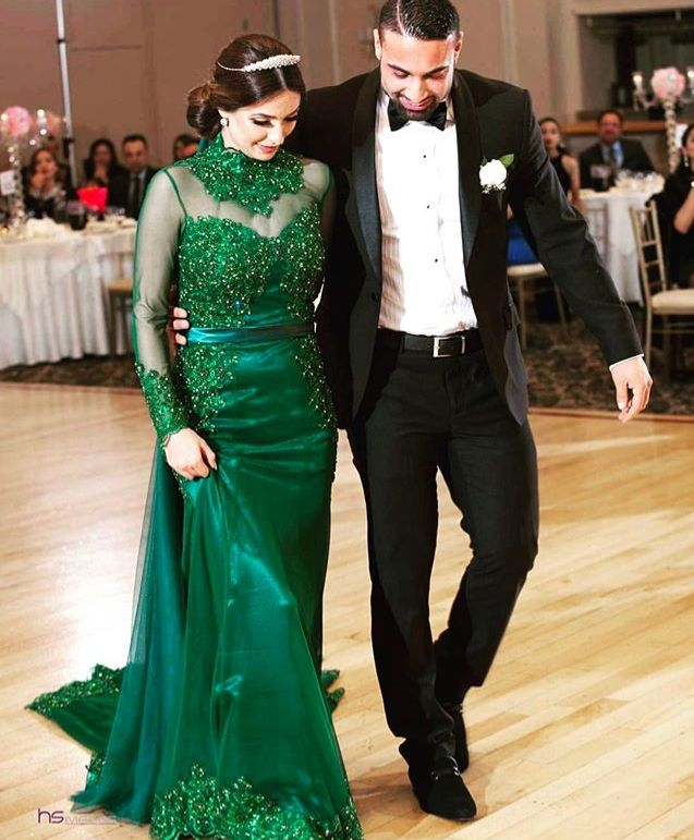 Afghan Wedding Gowns: #afghan Style# Green Nikah Dress# Wedding
