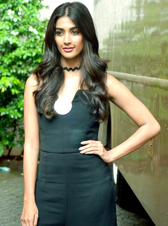 Pooja Hegde at Mehboob studio. #Bollywood #Fashion #Style #Beauty #Hot #Sexy