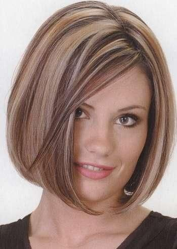 Length and highlights.   medium bob hairstyle