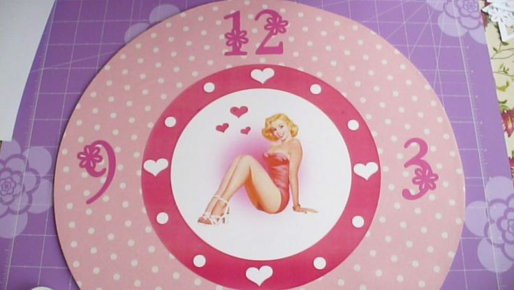 Tutorial Orologio da parete Pinup - Pinup DIY Wall Clock by SweetBioDesign