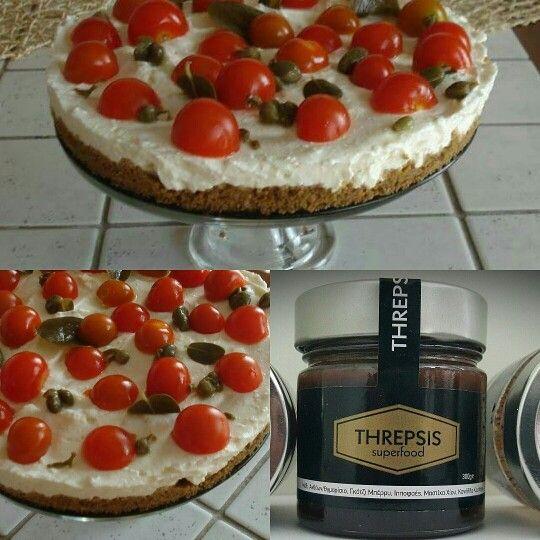 Cheese cake dakos with threpsis superfood Ελληνικό μέλι Ανθέων και Θυμαρίσιο, γκότζι (goji berry) Μπερι, ιπποφαές, κανέλλα Κεϋλάνης και Μαστίχα Χίου. Η αυθεντική συνταγή (μετά από έρευνα και μελέτη  .) Προσοχή στις απομιμήσεις