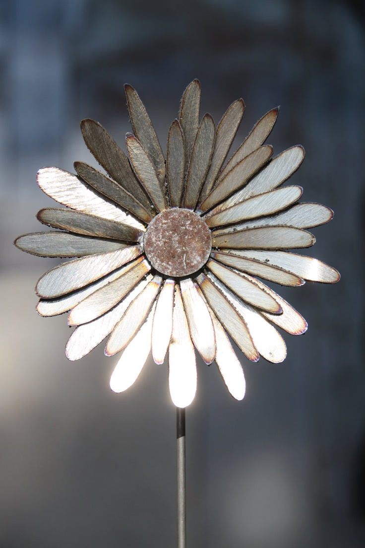 Single Metal Flower by CWMetalWorks on Etsy, $19.00