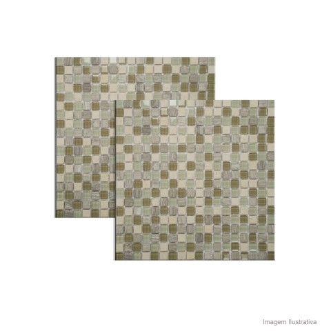 Pastilha de mármore Fit D301 30,5x30,5cm Colormix - Telhanorte