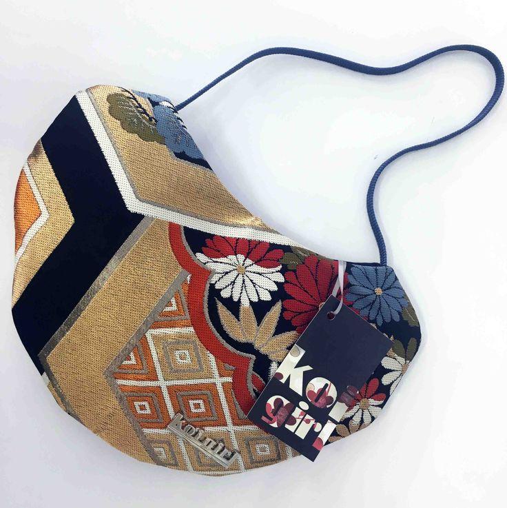 Koi Girl Black metallic evening purse