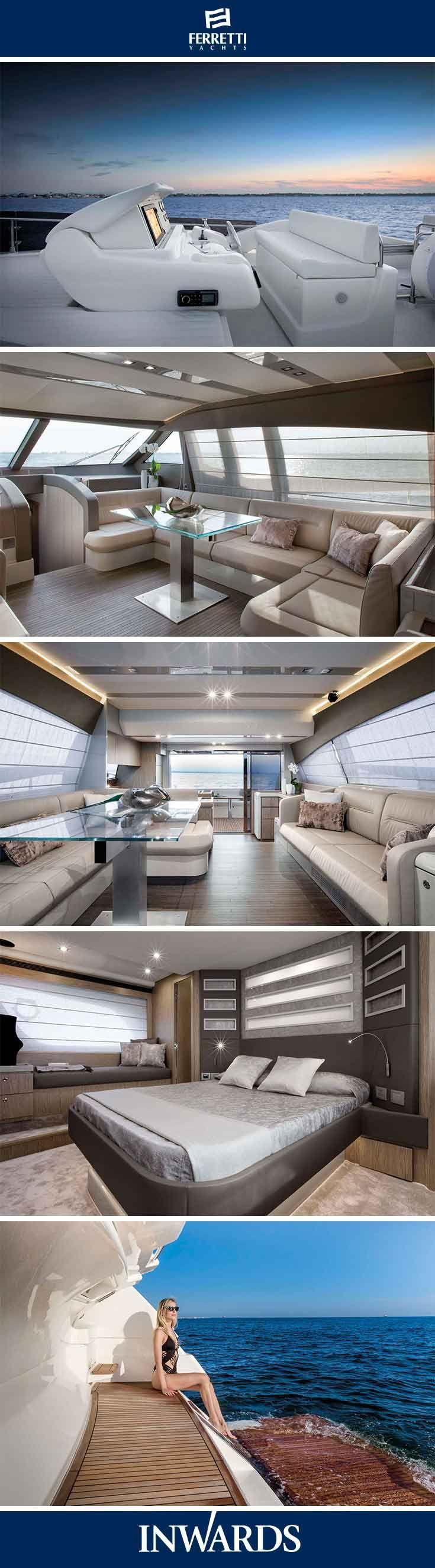 Ferretti Yachts 650 - interior | Stunningly eye catching.