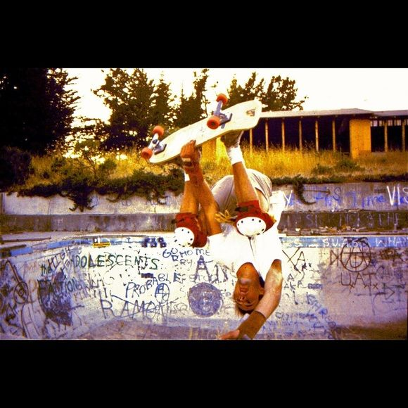 My husband pro skater in the  70s ..... Skated for Sims skateboard northern California team. 1977... Skated for Vans ...Lazer Trucks... Skating with the Z boys. He misses you J Adams ... Other
