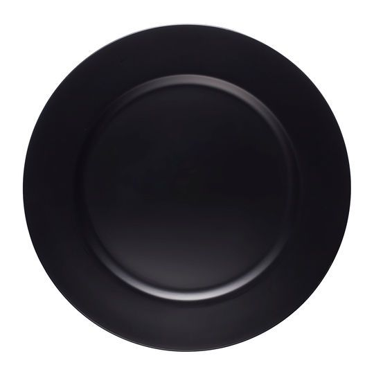 """13"""" Black Chalkboard Charger Plate By Ashland"""