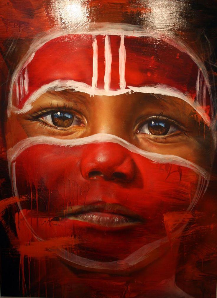 indigenous Australian painting by Melbourne artist Matt Adnate. adnate.com.au