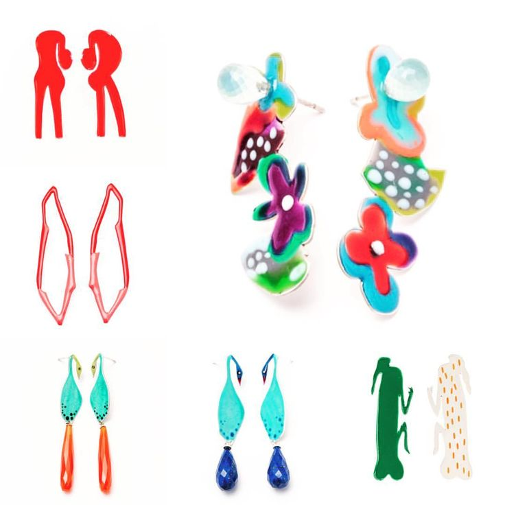 Walter Battiss Earring Collection by Nanette Veldsman @bynanette @walter_battiss_company