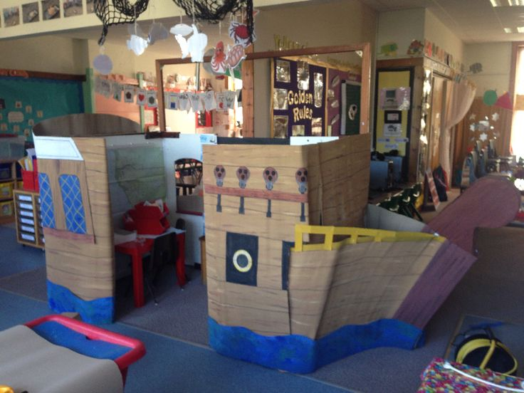 Pirate Ship role-play area classroom display photo - SparkleBox