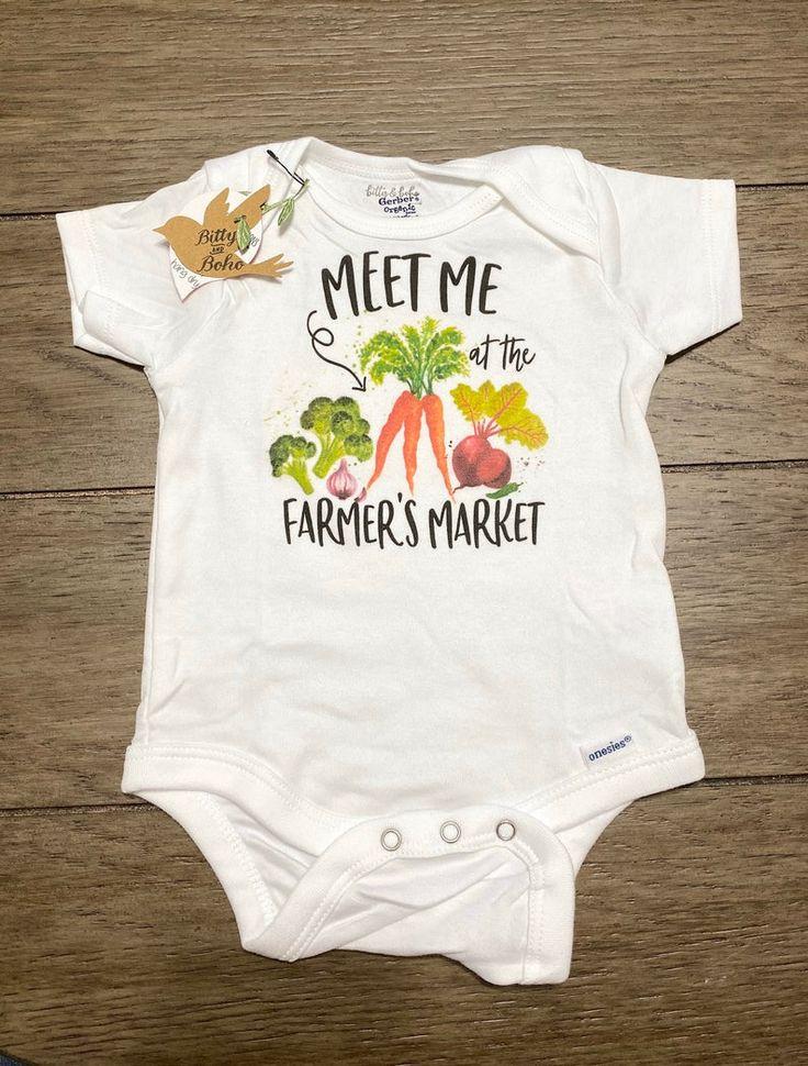 Meet Me at the Farmer's Market Onesie®, Hipster Baby, Farm ...
