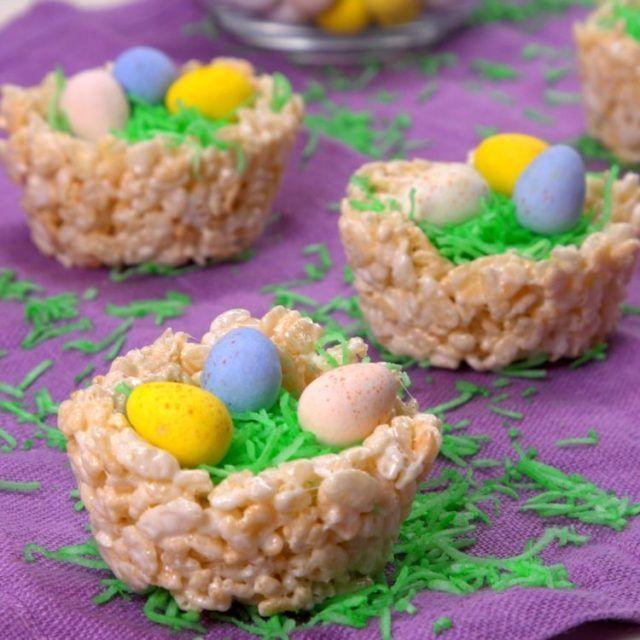Fun Rice Krispies Easter Egg Nests