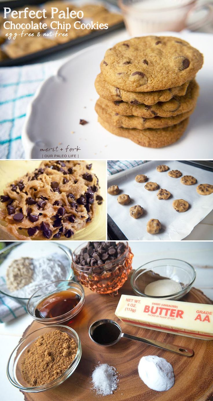 Perfect Paleo Chocolate Chip Cookies {guest post by Merit + Fork on Our Paleo Life} - No joke, these are as close to the real thing as I've ever tasted. AND they're nut-free and egg-free!!! #paleo