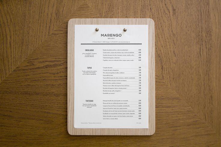 Dise o de carta madera restaurante marengo restaurant - Maderas menur ...