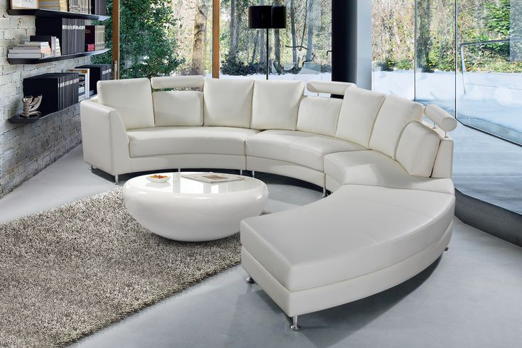 VELAGO - ROSSINI Leather Circular Sofa