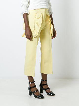 Marni укороченные брюки с оборками