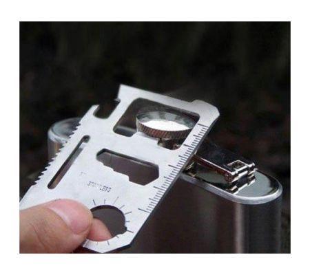 Çelik Acil Durum Kartı Survival Kit ::
