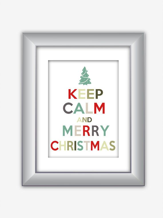 Keep Calm and Merry Christmas Holiday Poster Print by NurulDesigns, $5.00