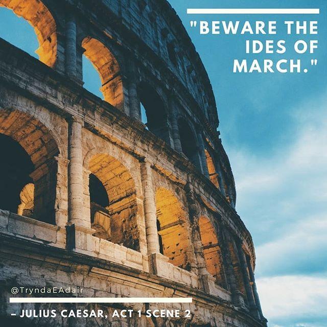 """Beware the ides of March.""  #JuliusCaesar Act 1 scene 2. #ShakespeareSunday photo by #BenceBoros.  #WilliamShakespeare  #WilliamShakespeareQuotes #TheBard #PlayQuotes - https://www.instagram.com/p/BgLvjj_BU_1/"