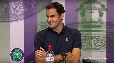 """Roger Federer: """"I told the referee, maybe I'll go in the locker room, find Novak (who also got retirement win), and play an exibition set, I felt for the crowd"""" 😂"""