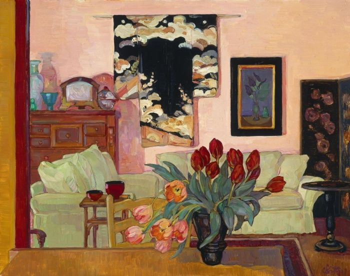 Tulips with Interior, Burnside by Criss Canning