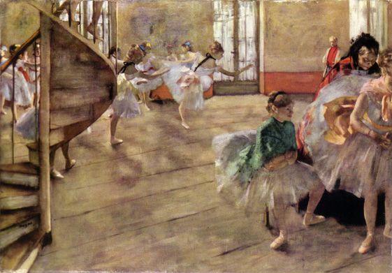 edgar degas the rehearsal adagio 18731874 1877
